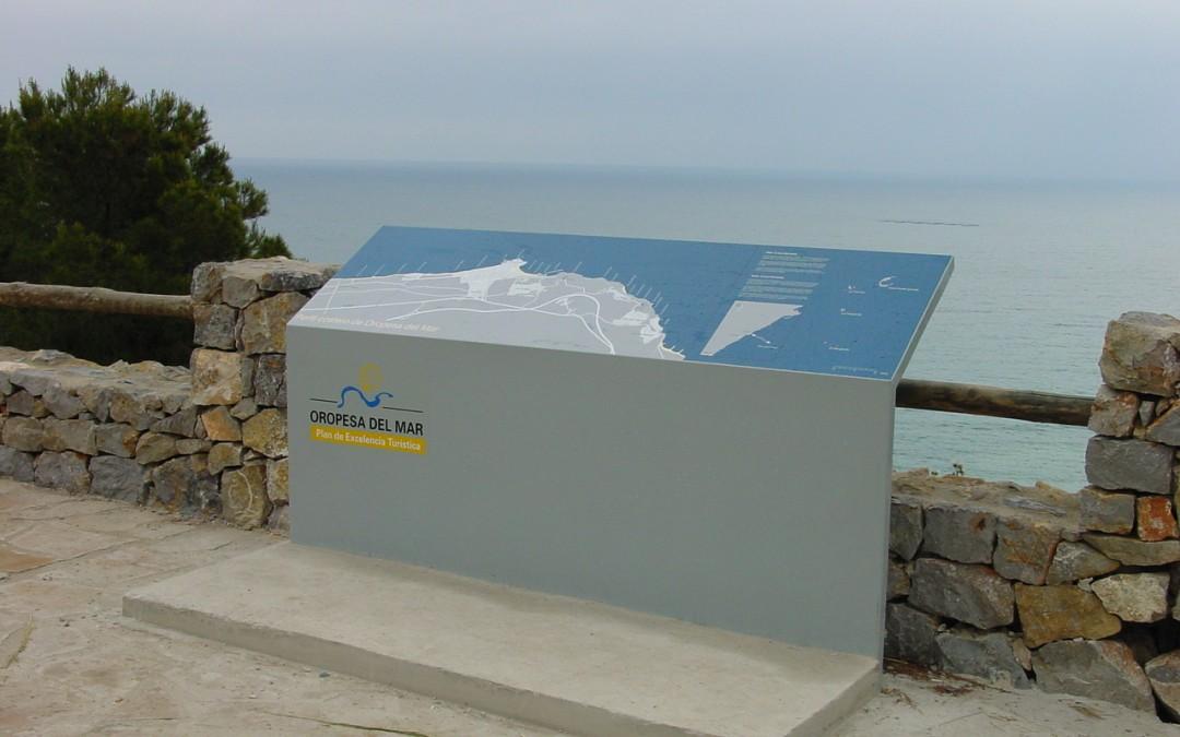 Señalización de entornos en Oropesa del Mar y Alcossebre 2001-2003