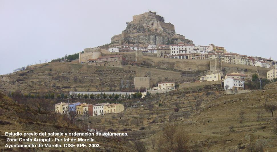 Estudio previo del paisaje   -Zona Costa Arrapat –  Puritat  de Morella 2003